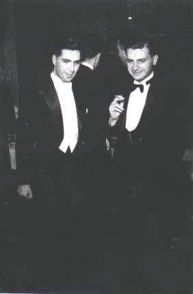 Barbu Brezianu si Constantin Noica, la o receptie in anii '30. Din arhiva lui B. Brezianu.